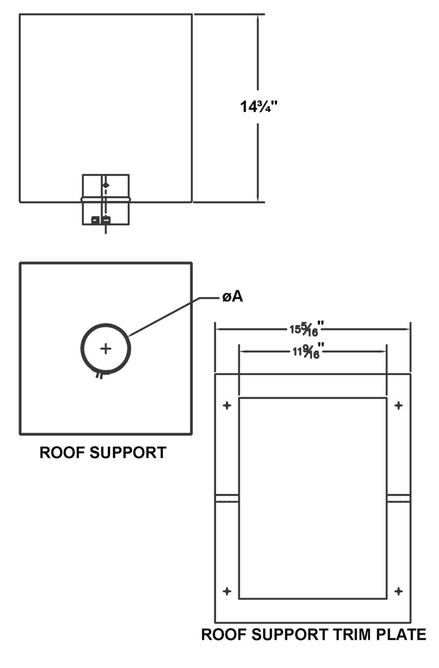 Psv Rs Bk Roof Support Amerivent