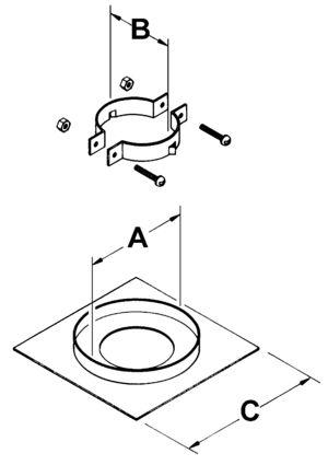 AV_FSP_VC line art firestop support plate