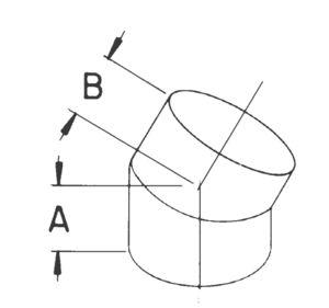 AV_E45-R45_TBGV line art 45-degree elbow