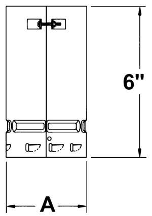 AV_EUA-F_VC line drawing single-wall universal adapter