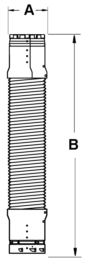 AV_ADFC_VC line drawing double-wall gas vent segment
