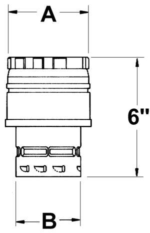 AV_FCX_VC line drawing single-wall increaser