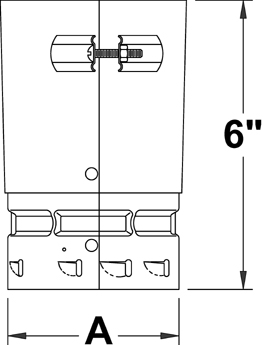 AV_FCA_TBGV line art universal adapter female