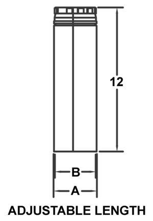 AV_PSV-12A_PV Adjustable Length drawing