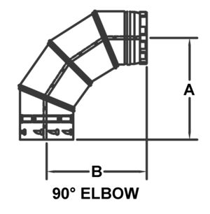 AV_PSV-90_PV 90-degree Elbow drawing