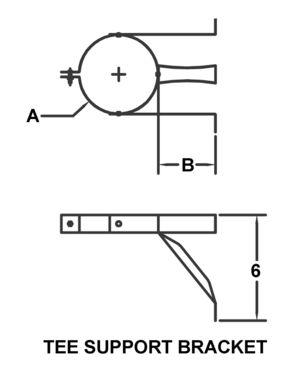 AV_PSV-TSB_PV Tee Support Bracket drawing