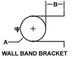 AV_PSV-WB_PV Wall Band Bracket drawing