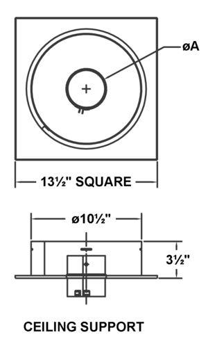 AV_PSV-CS-BK_PV Ceiling Support drawing