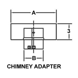 AV_PSV-CA-BK_PV Chimney Adapter drawing