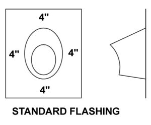AV_EF_PV Standard Flashing drawing