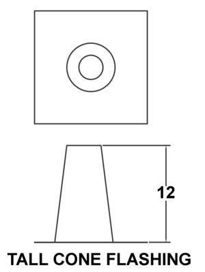 AV_EFT_PV Tall Cone Flashing drawing