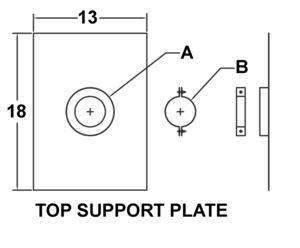 AV_TSPR_PV Top Support Plate drawing