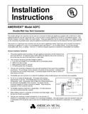 z - Cover Image: Model ADFC Installation Instructions