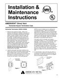 z - Cover Image: Horizontal Square Termination Caps Installation Instructions