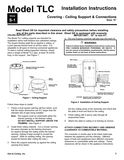 z - Cover Image: Model TLC Ceiling Support Installation Instructions